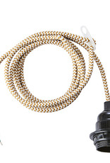 @BERG Electro cord -goud/wit-