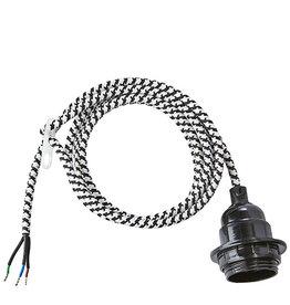 Electro cord -zwart/wit-