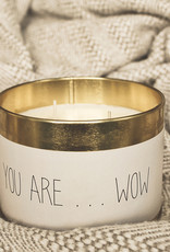 My Flame Kaars in blik -You are ...wow- Geur: Fresh Cotton