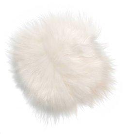 @BERG Stoelpad schapenvacht rond -ivoor wit-