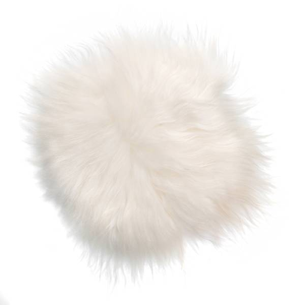 @BERG Stoelpad schapenvacht -ivoor wit-