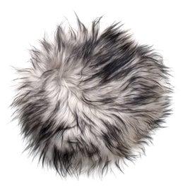 @BERG Stoelpad schapenvacht -grijs dark top-