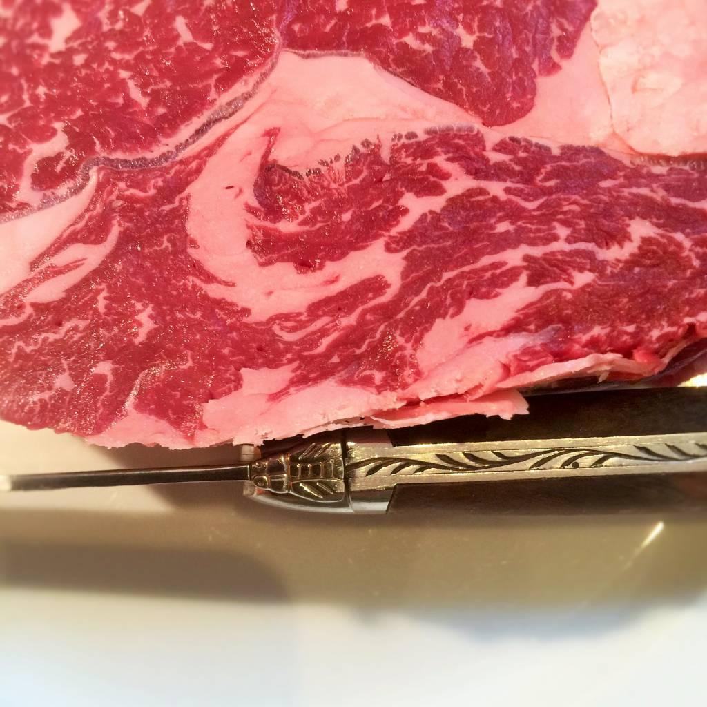 Ribeye BLACK ANGUS Australie graangevoederd 59.99€/kg JC3+