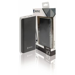 Nedis Powerbank | 15000 mAh | 2 USB-A uitgangen 3.1 A | micro-USB ingang | Zwart