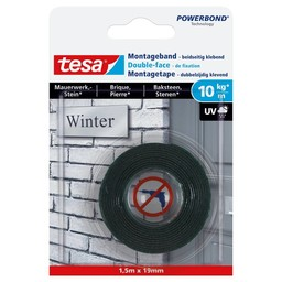 Tesa Tesa Powerbond montage bakstenen 77748 1,5 m x 19 mm