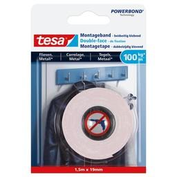 Tesa Tesa Powerbond montage tape tegels & metaal 77746 1,5 m x 19 mm