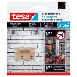 Tesa Tesa Klevende Schroef bakstenen vierkant 77902 2,5 kg
