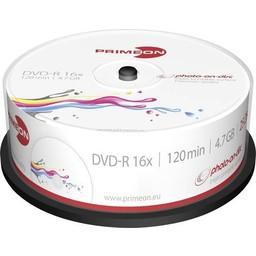 Primeon Primeon DVD-R 4.7GB 25 stuks spindel 16x