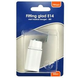 Huismerk BLS fitting glad E14 + haakse beugel wit
