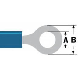 Valueline Connector kabelschoen 4.3 mm Female PVC Blauw
