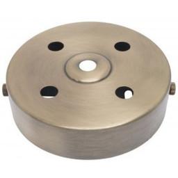 Plafondkap Stoere Zolderkap Metaal 95x25mm 5-Lichts Brons Ges, D580/4A