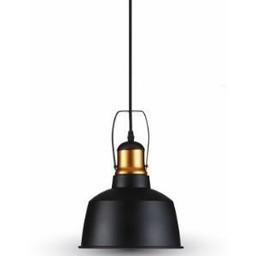 Hanglamp aluminium zwart met E27 fitting