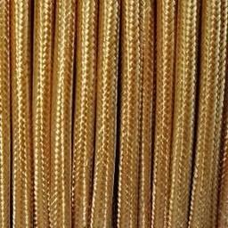 Omsponnen snoer 2x0,75 qmm brons