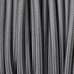 Omsponnen snoer 2x0,75 kleur grijs