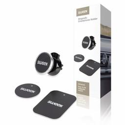 Sweex Universeel Smartphonehouder Ventilatierooster Auto Zwart/Zilver