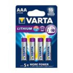 Varta Lithium Batterij AAA 4-Blisterkaart