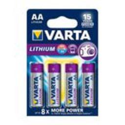 Varta Lithium Batterij AA-Blisterkaart