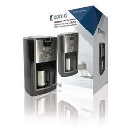 König Koffiezetapparaat met thermoskan 800 W 10 Kopjes Zwart/Zilver