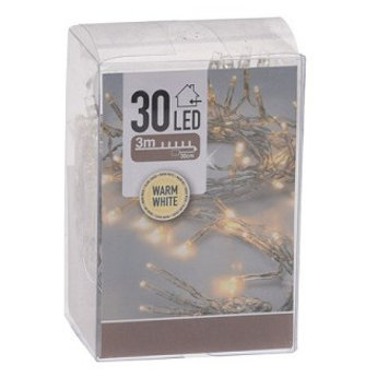 led batterijverlichting 30 lamps warm wit
