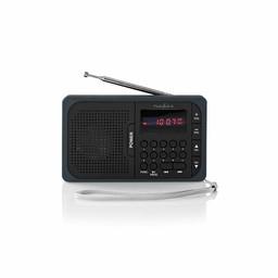 Nedis FM-radio | 3,6 W | USB-poort & microSD-kaartsleuf | Zwart / grijs