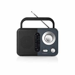 Nedis FM-radio | 2,4 W | Draaggreep | Zwart / grijs