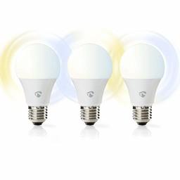 Nedis Slimme Wi-Fi-LED-Lampen | Warm- tot Koud-Wit | E27 | 3-Pack