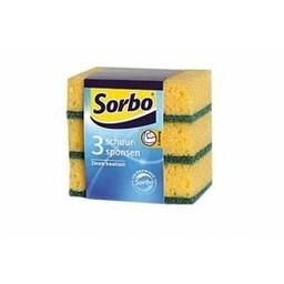 Sorbo schuurspons geel/groen 3 stuks