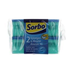 Sorbo schuurspons  zacht XL 11,5x6x4cm 2 st