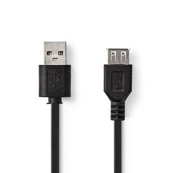 Nedis Kabel USB 2.0   A male - USB A female   3,0 m   Zwart