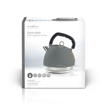 Nedis Elektrische waterkoker   1,8 l   Soft-touch   Grijs