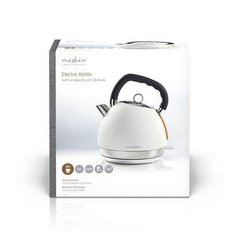Nedis Elektrische waterkoker | 1,8 l | Soft-touch | Wit