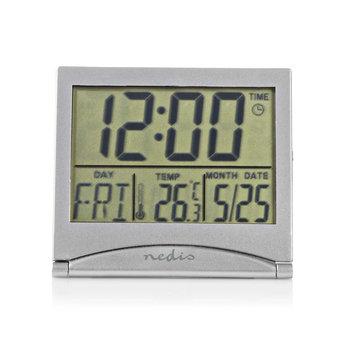 Nedis Digitale Reiswekker | Datum/temperatuur | Zilver