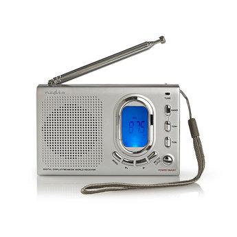 Nedis FM-radio | 1,5W | Wereldontvanger | Alarmfunctie | Grijs