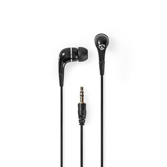 Nedis Wired Headphones | 1.20 m Round Cable | In-Ear | Black