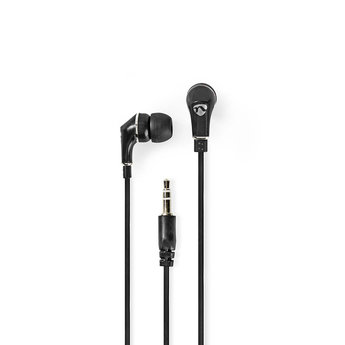 Nedis Wired Headphones | 1.20 m Flat Cable | In-Ear | Black