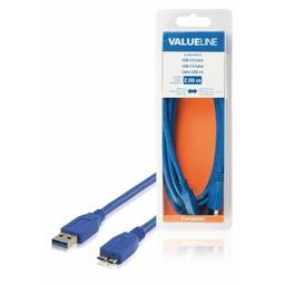 <br />  USB 3.0 kabel USB A mannelijk - USB Micro B mannelijk 2,00 m blauw