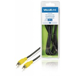 <br />  RCA composiet kabel mannelijk - RCA composiet mannelijk 2,00 m zwart