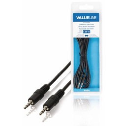 <br />  Jack stereo audiokabel 3,5 mm mannelijk - 3,5 mm mannelijk 3,00 m zwart
