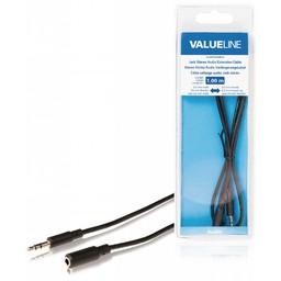 <br />  Jack stereo audio verlengkabel 3,5 mm mannelijk - 3,5 mm vrouwelijk 1,00 m zwart