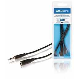 <br />  Jack stereo audio verlengkabel 3,5 mm mannelijk - 3,5 mm vrouwelijk 2,00 m zwart