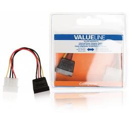 <br />  Interne stroom adapterkabel Molex mannelijk - SATA 15-pin vrouwelijk 0,15 m veelkleurig