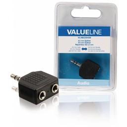 <br />  Audio-splitter 3,5 mm male - 2x female zwart