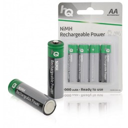 Nedis Oplaadbare NiMH batterij AA | 1,2 V | 2000 mAh | 4 stuks | Blister