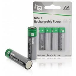 Nedis Oplaadbare NiMH batterij AA | 1,2 V | 2600 mAh | 4 stuks | Blister