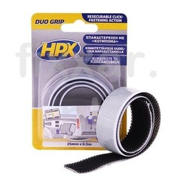 Hpx Duo grip klikbband - 25mm x 0,5m
