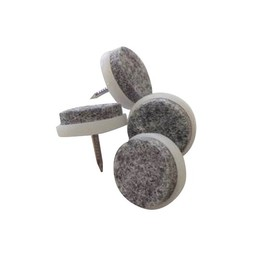 QlinQ QlinQ viltglijder met nagel wit 24 mm