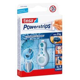 Tesa Tesa powerstrips waterproof strips large wit 6 stuks