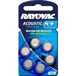 Rayovac Acoustic Special V675  Bls 6