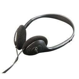 Stereo hoofdtelefoon met volumeregeling, zwart