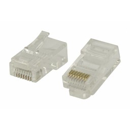 Valueline Easy use RJ45 connectoren voor stranded UTP CAT5 kabels 10 stuks
